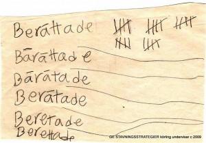 Låt eleverna pröva sin stavning, tänker Anne-Marie Körling