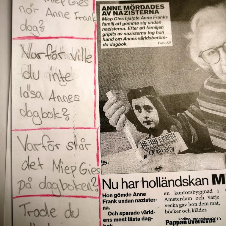 Körling undervisning om Anne Frank 2010