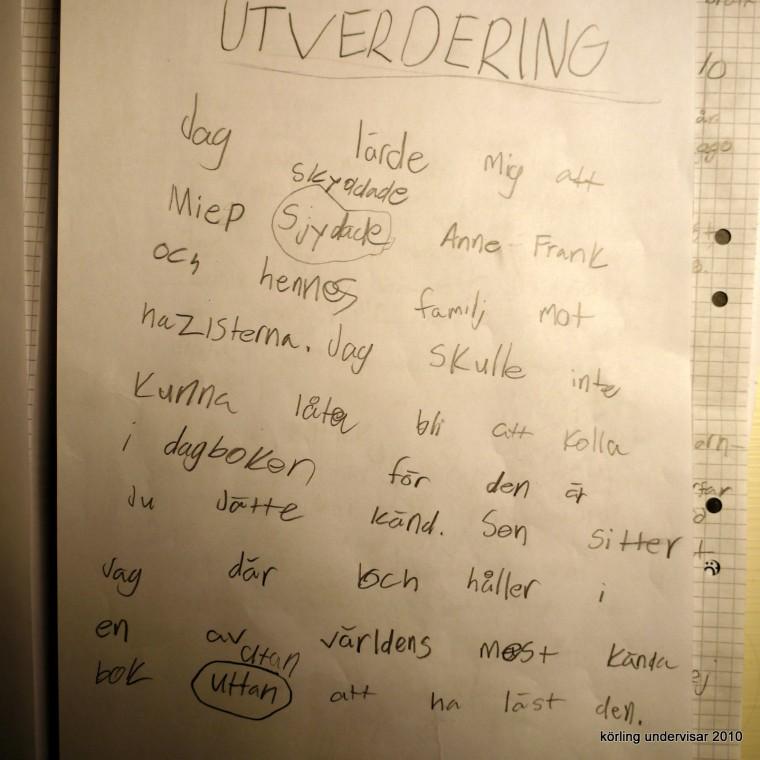 Körling undervisar 2010