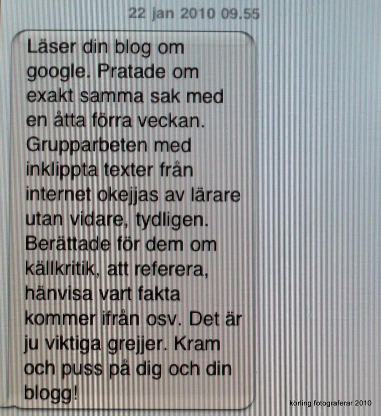 Körling får sms 2010