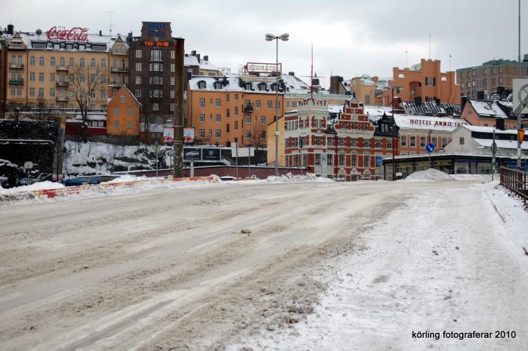 Körling fotograferar Slussen ungefär vid 16.00 tiden på väg hem från jobbet, 2010