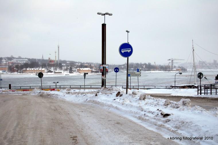Körling fotograferar Slussen Klockan 16.00 den 23 feb 2010 på väg hem från jobbet