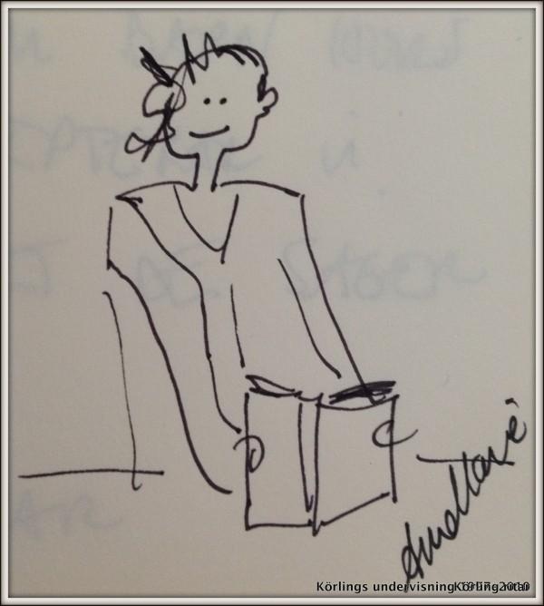 Jag läser, en liten teckning Körling ritar, A-M Körling-001