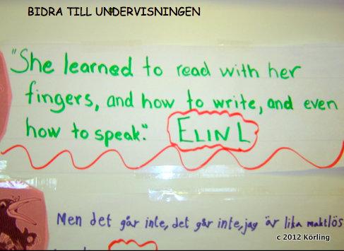Körling undervisar 2003