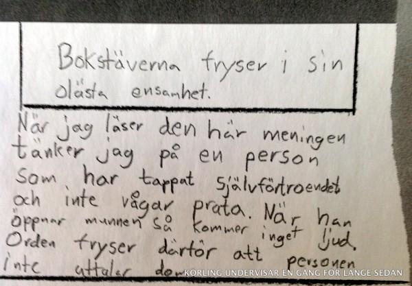 Bokstäverna fryser - Årskurs fem - Körling undervisar