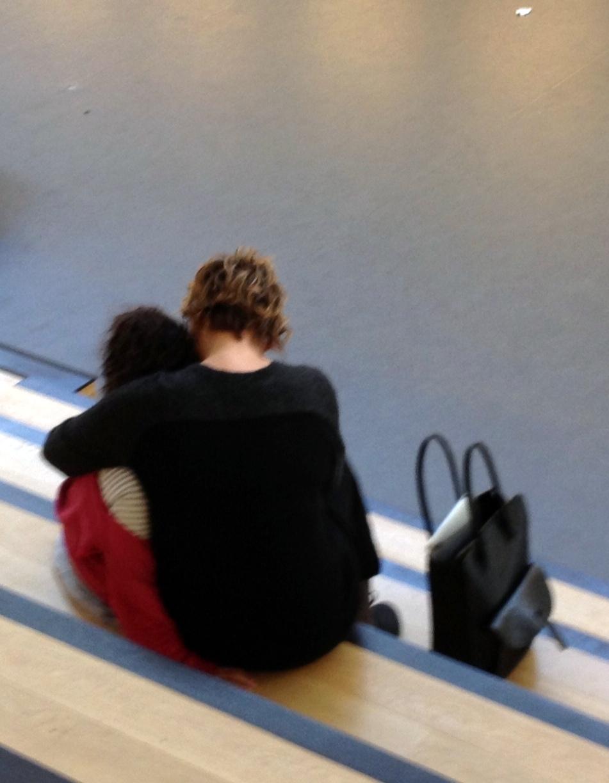 Anne-Marie och en ledsen elev