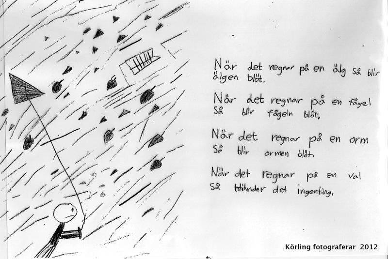 Skriva om regn regn på val Körling undervisar 2003