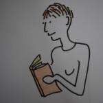 Jag tecknar mig själv som högläsare